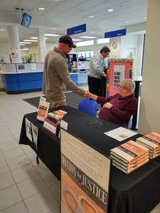 Shaking Hands with David Dewar at Lake County Public Library Book Fair